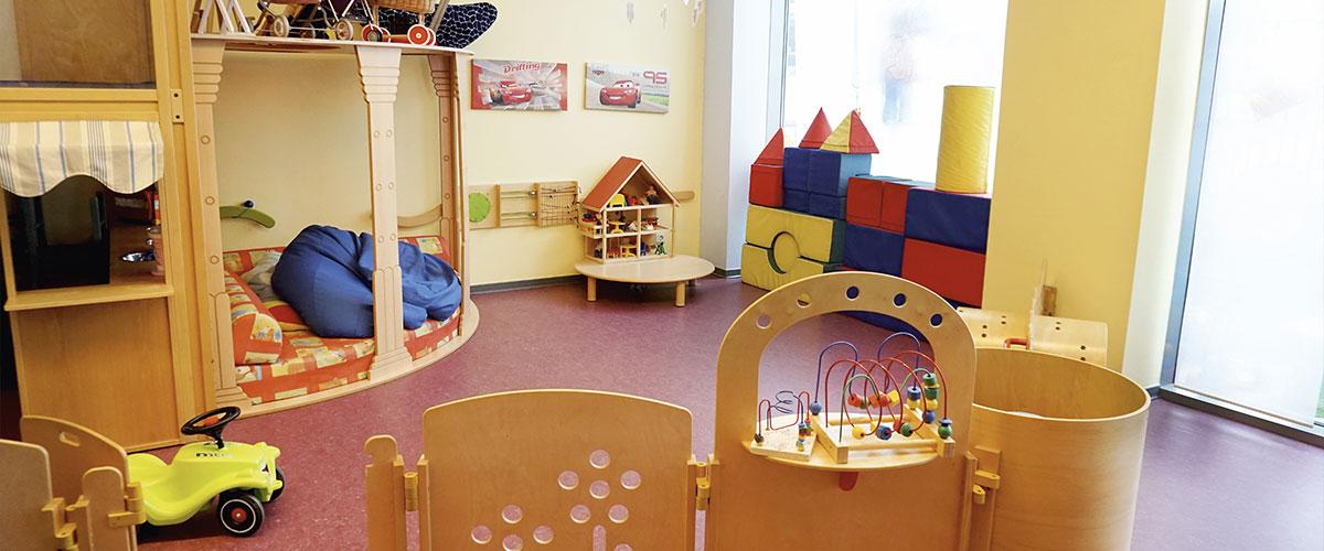 Spielzimmer bei der Kinderbetreuung
