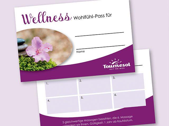 Newsgrafik Stempelkarten für den Wellness-Wolfühl-Pass